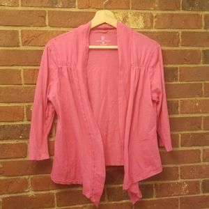new york & co pink cardigan